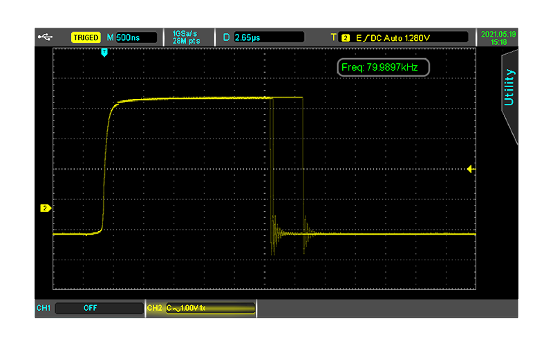 Up to 80,000wfms/s waveform capture rate