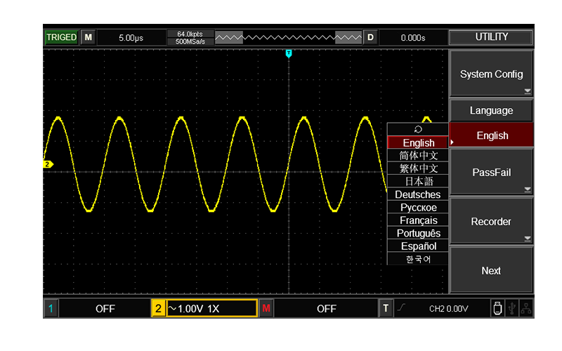 Multi-language optional, multi-frequency square wave optional