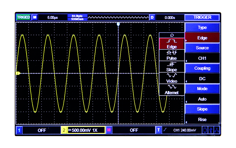 Multiple trigger functions and multi-frequency standard square wave optional