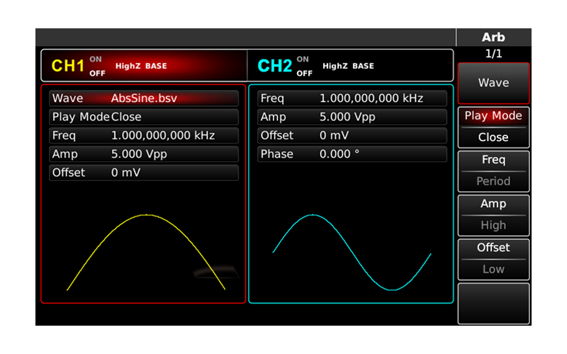 Built-in arbitrary waveform available at any time
